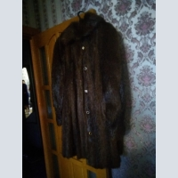 Women's clothing, Fur coat nutria and sable, No size