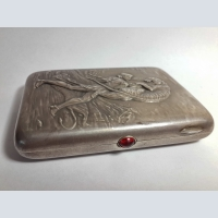 Silver case of the Stalinist period.875 samples. To choose and buy as a gift.Antiques.Antique gift shop