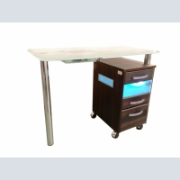 Manicure table 1 table, with glass top, UV-block and extractor fan